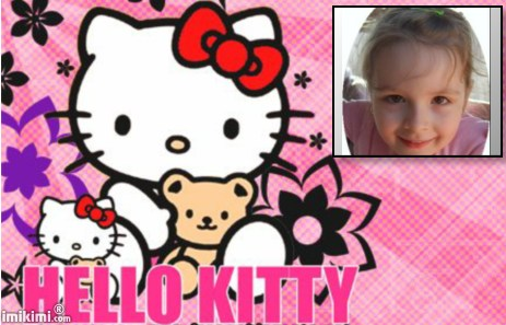 Hello Kitty fotomontáž